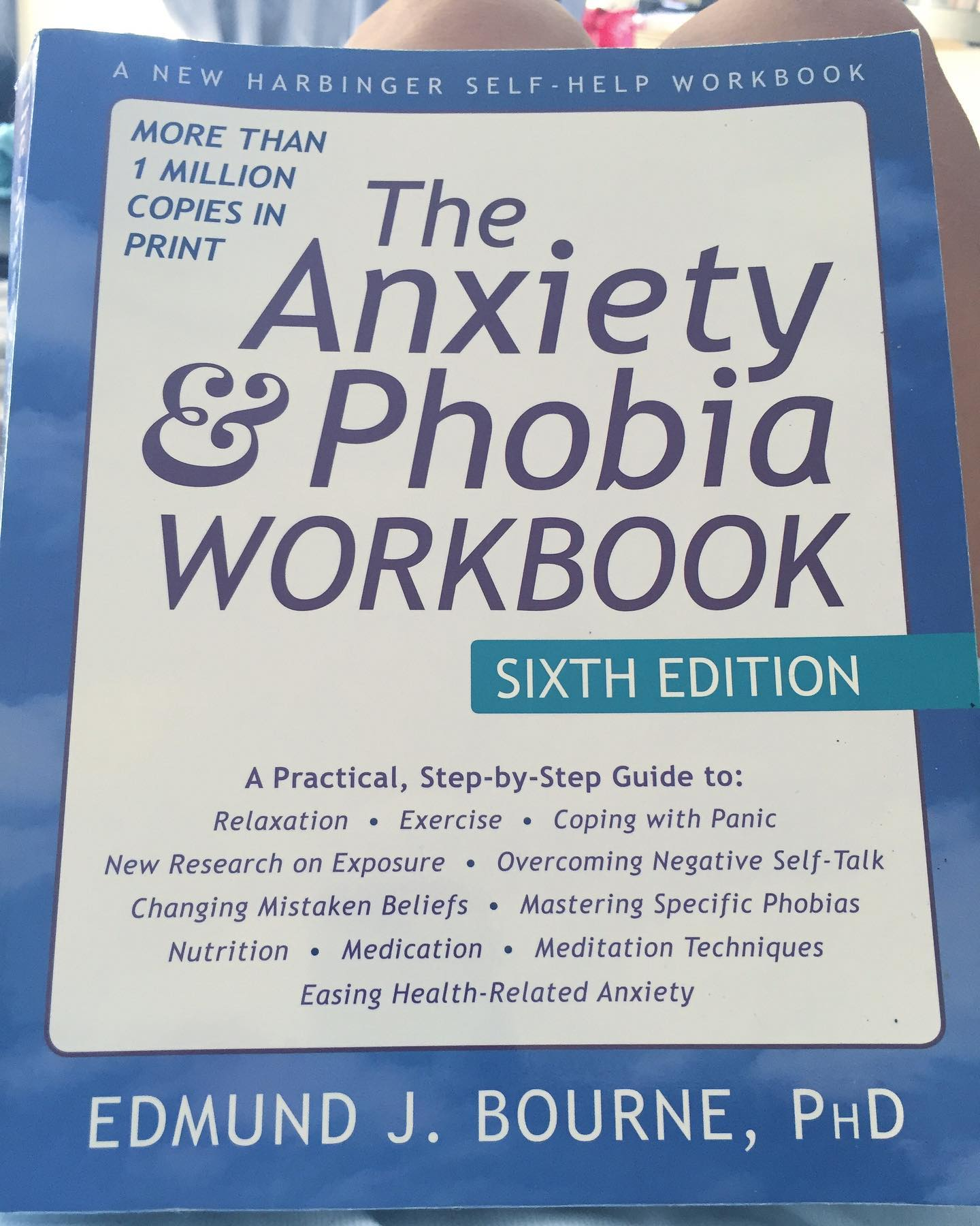 I used exercises from this book in therapy several years ago, and it's so helpful to have it around whenever I need a refresher. I highly recommend it for your mental health toolbox. #ichoosebeauty Day 2413