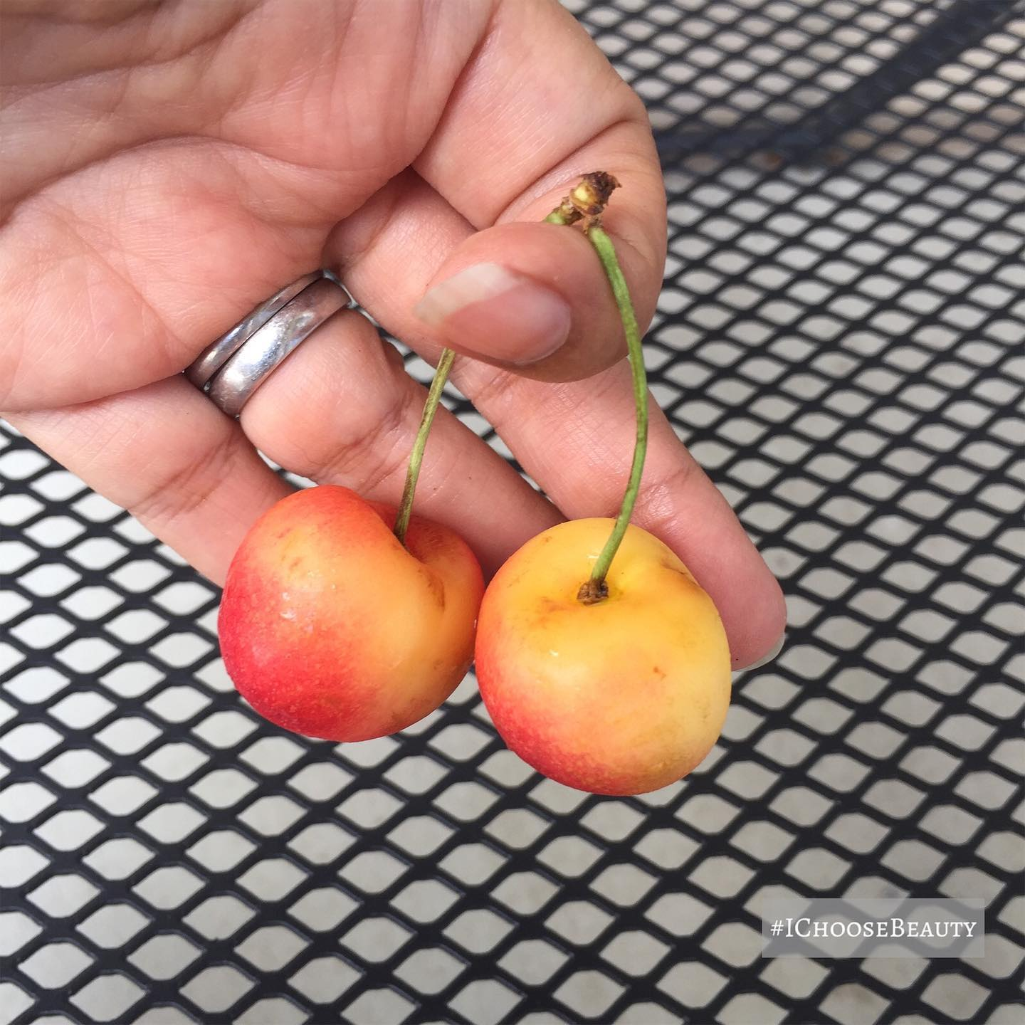 Anyone else think it's cute when cherries come in pairs?   #ichoosebeauty Day 2423