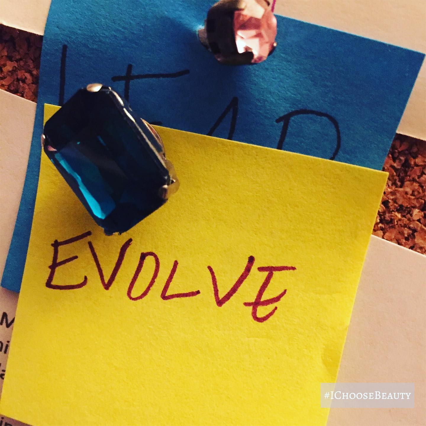 """How fitting is it that """"evolve"""" was what I chose months ago as my word for the year? #ichoosebeauty Day 2428"""