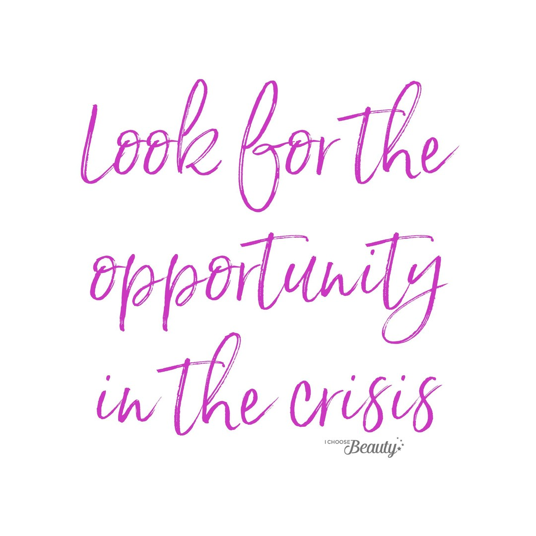 I've posted this one before, but it speaks to everything going on in our world right now, so I wanted to reshare it.⁠⁠When we look for some kind of opportunity during difficult times, it can help us get through them.⁠⁠Maybe the challenges of 2020 have given you the opportunity to spend more time with family that you didn't have before, or a chance to try a new skill, or a much-needed reset.⁠⁠I'm not trying to minimize the hardships of this unprecedented time - many of us are struggling right now. But it can help to challenge your thinking, and to search for what may be an unexpected opportunity.⁠⁠⁠⁠⁠⁠⁠⁠⁠⁠#ichoosebeauty #covid2020 #covidlife #lifeinthetimeofcorona #pandemic2020 #coronaviruspandemic #coronapandemic #coronavirus2020 #lookforthegood #lookforthelight #healingtools #healingyourself #inspiringwords #inspiringquote #inspiringthoughts #inspirationalquotestoliveby #inspirationalmessage #inspirationalsayings #inspirationalthought #mentalhealthsupport #mentalhealthisimportant #mentalhealthtips #mentalhealthhelp #mentalhealthjourney #mentalhealthcare #mentalhealthadvice #mentalhealthcommunity #mentalwellness