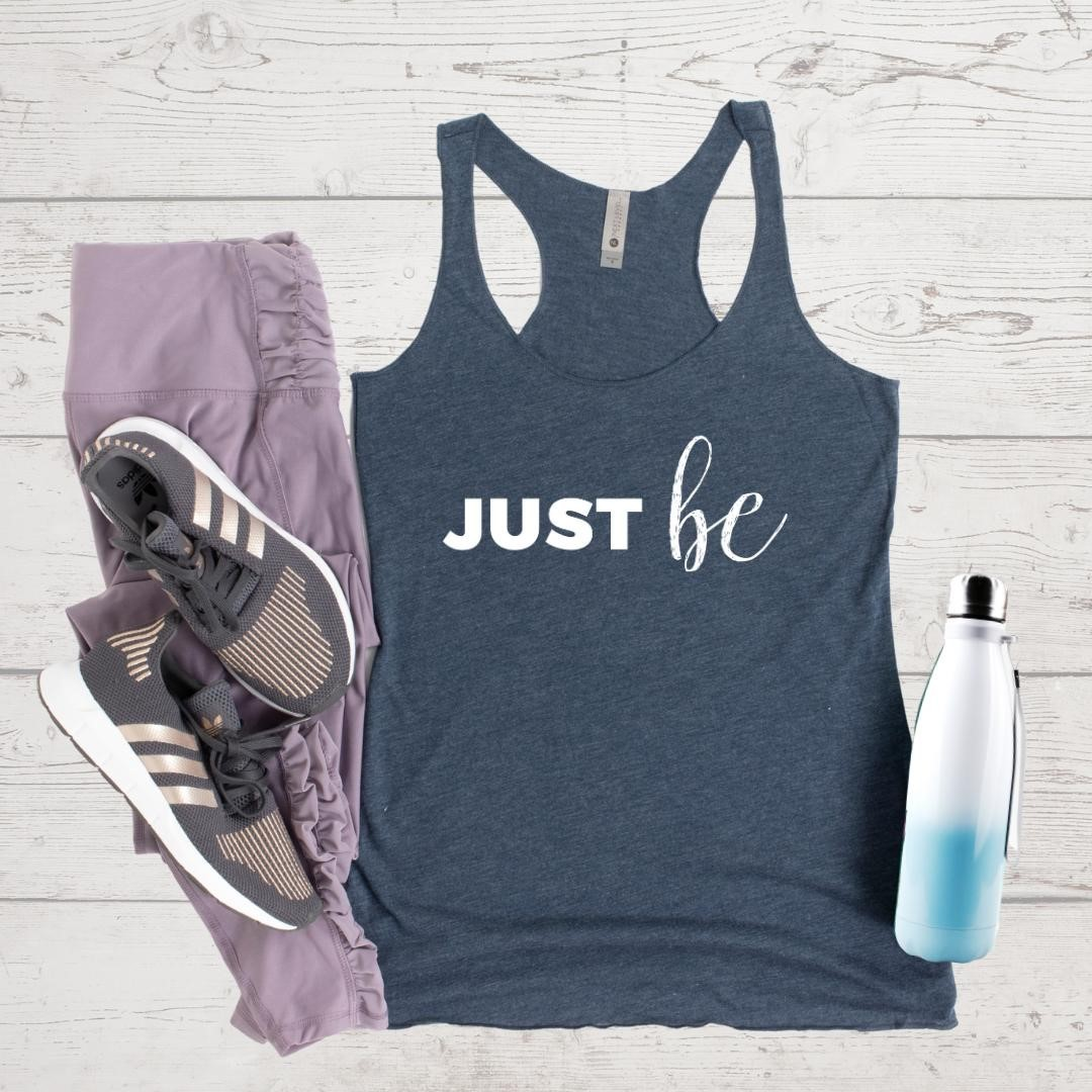 Feel at peace with letting this moment be enough. Let the judgment go… and just be.⁠⁠Tanks come in Indigo (pictured), Envy, and Vintage Purple tri-blend. Perfect for working out, running errands, or lounging.⁠⁠Please note, there's a shipping delay at our warehouse because of safety and staffing due to covid.⁠⁠5% of net proceeds goes to @mentalhealthamerica. Link to shop is in my bio.⁠⁠⁠⁠⁠⁠⁠⁠⁠⁠#ichoosebeauty #justbe #bepresentinthemoment #bepresentnow #wearabletherapy #wearables⁠#athleisurewear #athleisurestyle #athleisurelook #tanktops #yogaclothes #covid2020 #coronaviruspandemic #lifeinthetimeofcornona #mentalhealthtips #mentalhealthisimportant #mentalhealthadvice #mentalhealthjourney #mentalwellness #mentaltraining #mentalhealthsupport #mentalhealthcare #mentalhealthissues #mentalhealthisreal #mentalhealthhelp #mentalhealthcommunity #healingtools #healingtrauma⁠