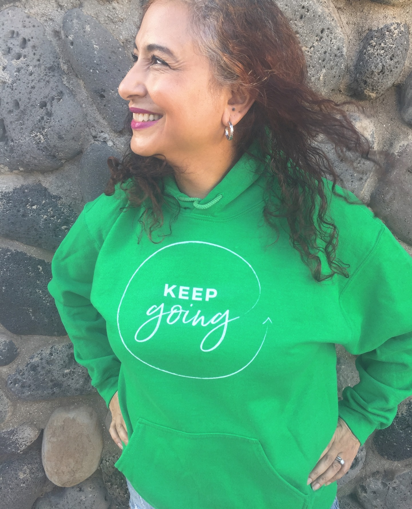 Keep going, even when you don't think you can.Hoodies come in Irish Green (pictured) and Indigo Blue, and are a perfect way to comfort your soul this chaotic year. 5% of net proceeds goes to @mentalhealthamerica. Link to shop is in my bio.#ichoosebeauty #hoodieseason #hoodiestyle #keepgoingforward #keepgoingstrong #keepgoingon #wearabletherapy #wearables #healingtools #healingtrauma #athleisurewear #athleisurestyle #athleisurelook #coronaviruspandemic #lifeinthetimeofcornona #covid2020 #mentalhealthisimportant #mentalhealthadvice #mentalhealthjourney #mentalwellness #mentaltraining #mentalhealthsupport