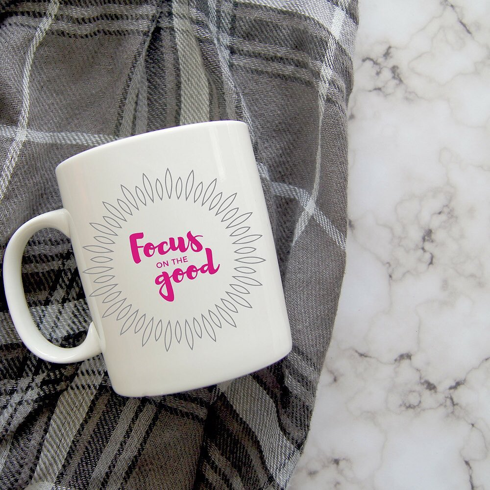 focus on the goodWe get to choose what we focus on in life, even during trying times. The more good things you can shift your attention to, the more hopeful you will feel.All of our mugs are created using the healing power of words, and come in two sizes - 11 oz. and 15 oz.5% of net proceeds goes to @mentalhealthamerica. Tap photo to shop :)