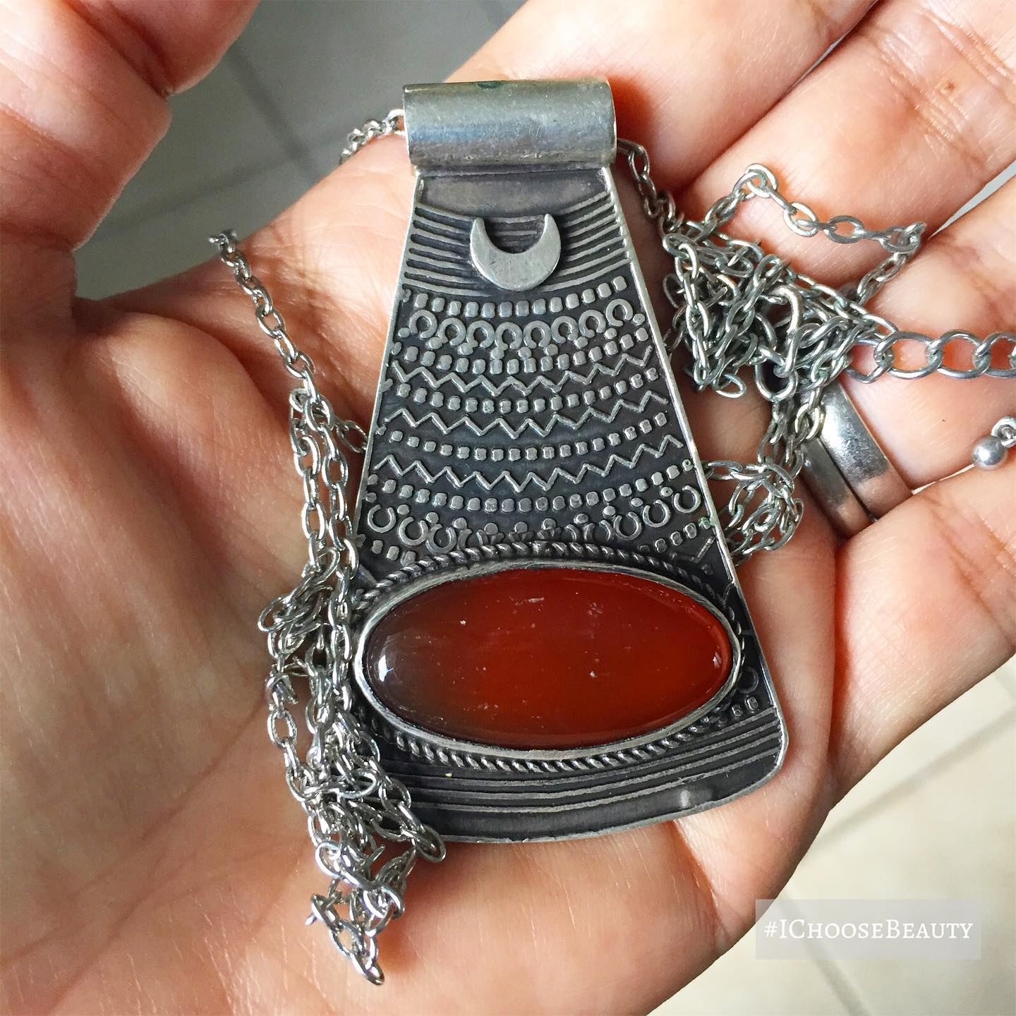 Been feeling drawn to my jewelry from Egypt lately. The detail on this pendant is just gorgeous.  #ichoosebeauty Day 2545