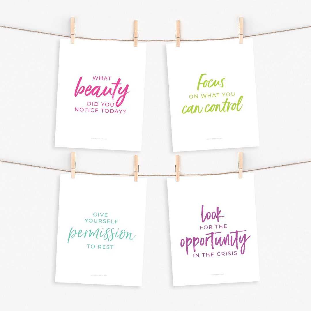 Introducing... I Choose Beauty's new Printable Inspirational Quotes!⁣⁣Think of them as a security blanket for 2020, made with the healing power of words.⁣⁣I really wanted to create something that would uplift, comfort, and empower you after so many tumultuous months.⁣⁣And also be:⁣⁣️Affordable (just $5.95 each, even less with the sale!)⁣️Something without the concern of mail delays (simply print at home or at a local printer)⁣️Giftable or keepable - your choice⁣⁣That's how the new printables came to life.⁣⁣They're all from my collection of coping statements that have personally helped me, and that I've shared online with you. These particular quotes seemed more relevant this year, so I thought they'd be perfect to offer as printables so that you can look at them every day.⁣⁣There are 10 designs altogether. Print them, frame them, hang them...⁣⁣Let them be your reminders to hope, persevere, and thrive despite the challenges of 2020.⁣⁣Link to shop is in my bio. 5% of net proceeds goes to @mentalhealthamerica