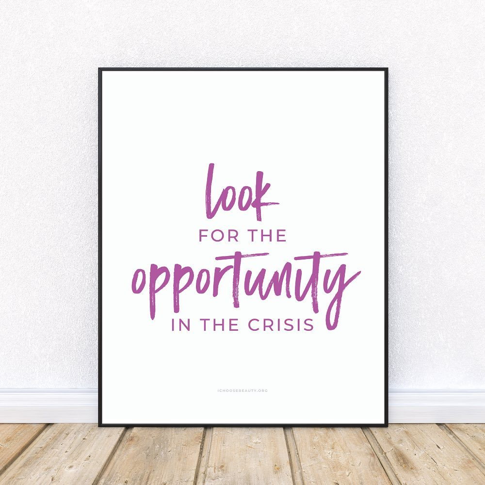New Inspirational Printable: Look for the opportunity in the crisisOne of 10 brand new printable quotes to gift someone you love, or keep for yourself... or both. 🥰I wanted to create something that would uplift, comfort, and empower you after so many tumultuous months.And also be:️Affordable (just $5.95 each)️Something without the concern of mail delays (simply print at home or at a local printer)️Frameable or not... your choiceThat's how the new printables came to be.They're all from my collection of coping statements that have personally helped me when I've struggled with my mental health. These particular quotes seemed more relevant this year, so I thought I'd offer them as printables - something colorful to brighten your day.Print them, frame them, hang them...Let them be your reminders to hope, persevere, and thrive despite the challenges of 2020.Link to shop is in my bio. 5% of net proceeds goes to @mentalhealthamericaHuge thanks to @emberand.co for bringing my vision to life. ️