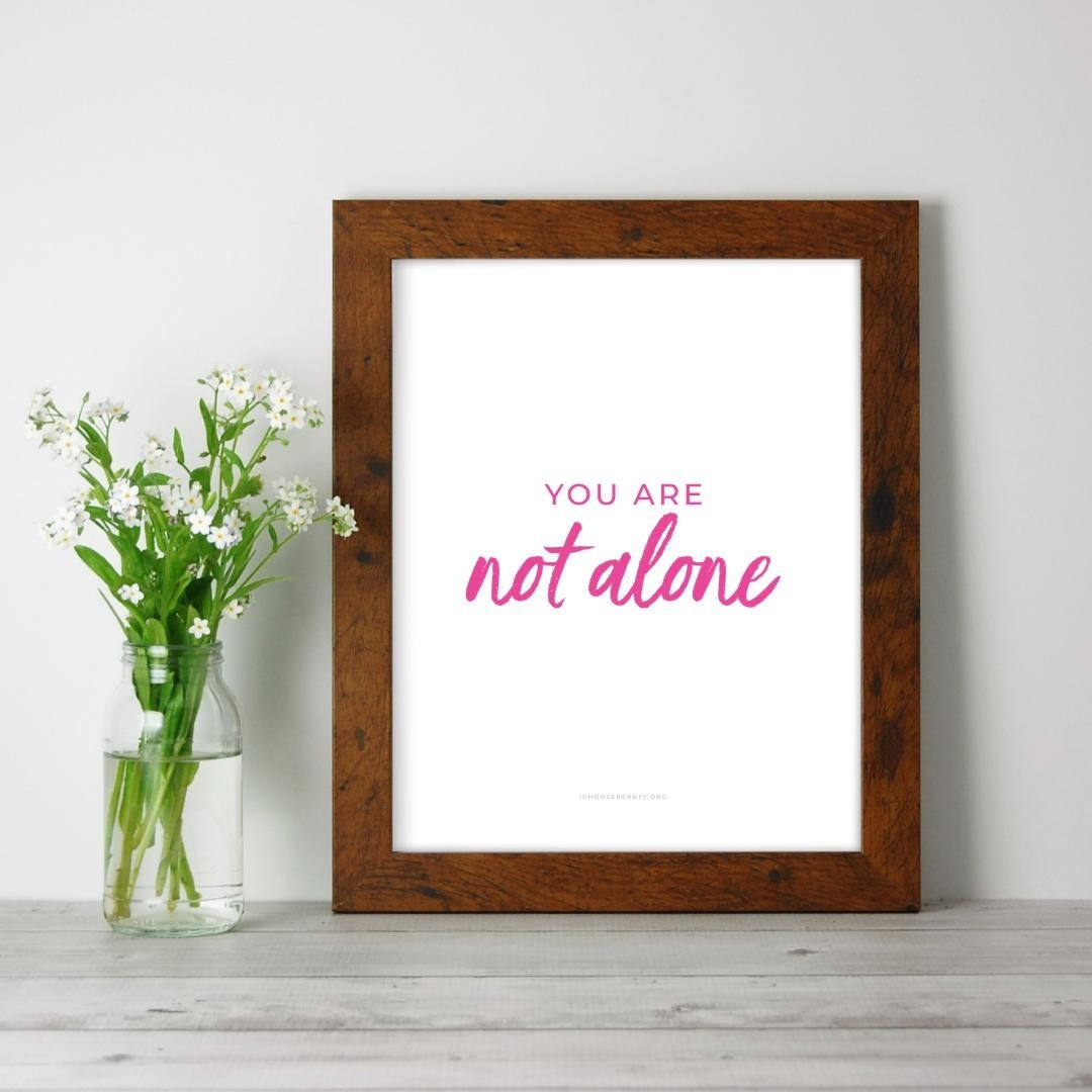 You are not alone inspirational 8x10 printable now in the shop!One of 10 new printable quotes to gift someone you love, keep for yourself... or both. 🥰I wanted to create something that would uplift, comfort, and empower you after so many tumultuous months.And also be:️Affordable (just $5.95 each)️Something without the concern of mail delays (simply print at home or at a local printer)️Frameable or not... your choiceThat's how the new printables came to be.They're all from my collection of coping statements that have personally helped me when I've struggled with my mental health. These particular quotes seemed more relevant this year, so I thought I'd offer them as printables - something colorful to brighten your day.Print them, frame them, hang them...Let them be your reminders to hope, persevere, and thrive despite the challenges of 2020.Link to shop is in my bio. 5% of net proceeds goes to @mentalhealthamerica#ichoosebeauty #selfkindness #coronaviruspandemic #lifeinthetimeofcornona #covid2020 #inspiringwords #inspiringquote #inspiringthoughts #inspirationalquotestoliveby #inspirationalmessage #inspirationalsayings #inspirationalthought #healingtools #healingyourself #mentalhealthsupport #mentalhealthisimportant #mentalhealthtips #mentalhealthhelp #mentalhealthjourney #mentalhealthcare #mentalhealthadvice #mentalhealthcommunity #mentalwellness #yourenotalone #notalone