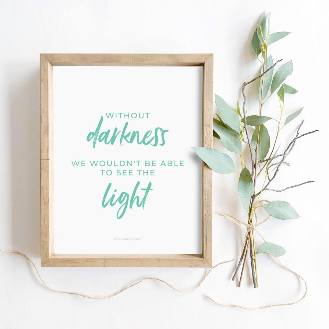 Last-minute gift, but heartfelt.⁠⁠Without darkness, we wouldn't be able to see the light⁠⁠⁣ inspirational 8x10 printable. ⁠⁠One of 10 new printable quotes to uplift, comfort, and empower your loved ones after this overwhelming year.⁣⁠🥰⁣⁠⁣⁠️Affordable (just $5.95 each)⁣⁠️No shipping required (simply print at home or at a local printer)⁣⁠️Frameable or not... your choice⁣⁠⁠Colorful designs. Healing words. The mental health TLC we all need.⁠⁣⁠⁣⁠Link to shop is in my bio. 5% of net proceeds goes to @mentalhealthamerica⁣⁠⁠⁠⁠⁠⁠⁠⁠⁠⁠#ichoosebeauty #selfkindness #coronaviruspandemic #lifeinthetimeofcornona #covid2020 #inspiringwords #inspiringquote #inspiringthoughts #inspirationalquotestoliveby #inspirationalmessage #inspirationalsayings #inspirationalthought #healingtools #healingyourself #mentalhealthsupport #mentalhealthisimportant #mentalhealthtips #mentalhealthhelp #mentalhealthjourney #mentalhealthcare #mentalhealthadvice #mentalhealthcommunity #mentalwellness #lessonslearned #lessonslearnedinlife #lessonsoflife #lessonsinlife