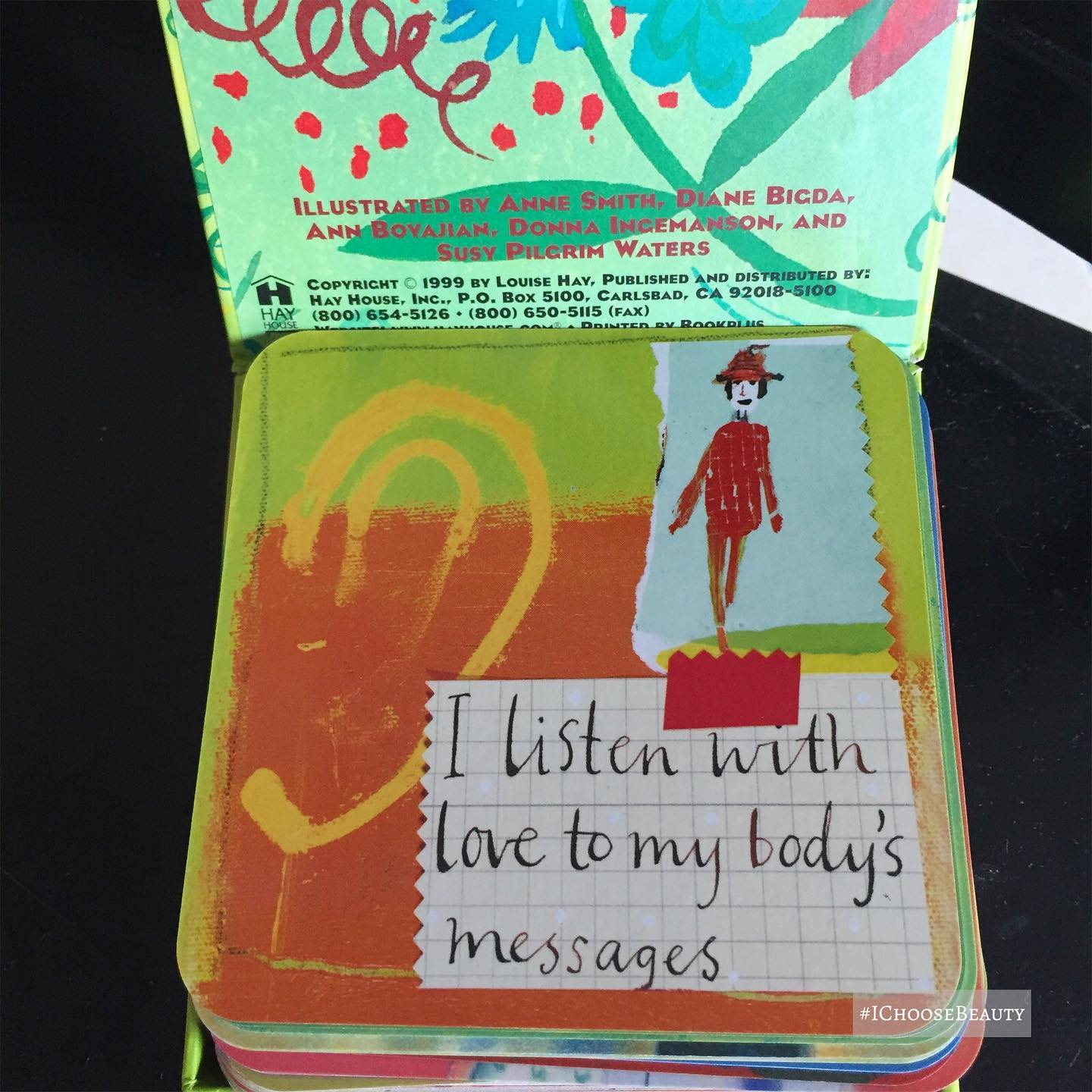 Inspiration from the words and illustrations in these @louise_hay_affirmations Power Thought Cards.  #ichoosebeauty Day 2674