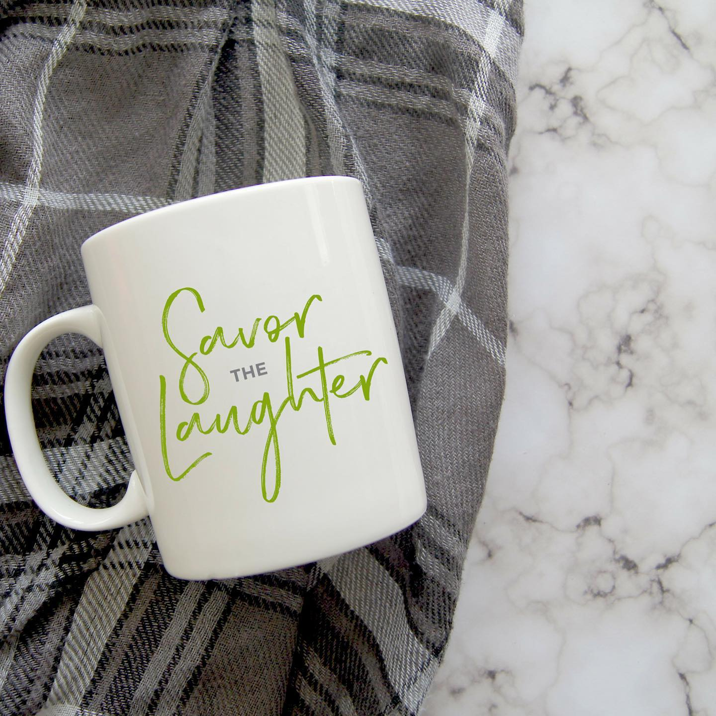 Make the most of the good times, and savor every single second of laughter.⁣⁣All of our mugs are created using the healing power of words, and come in two sizes - 11 oz. and 15 oz.⁣⁠⁣⁠⁣⁠⁣⁠⁣5% of net proceeds goes to @MentalHealthAmerica. #ichoosebeauty