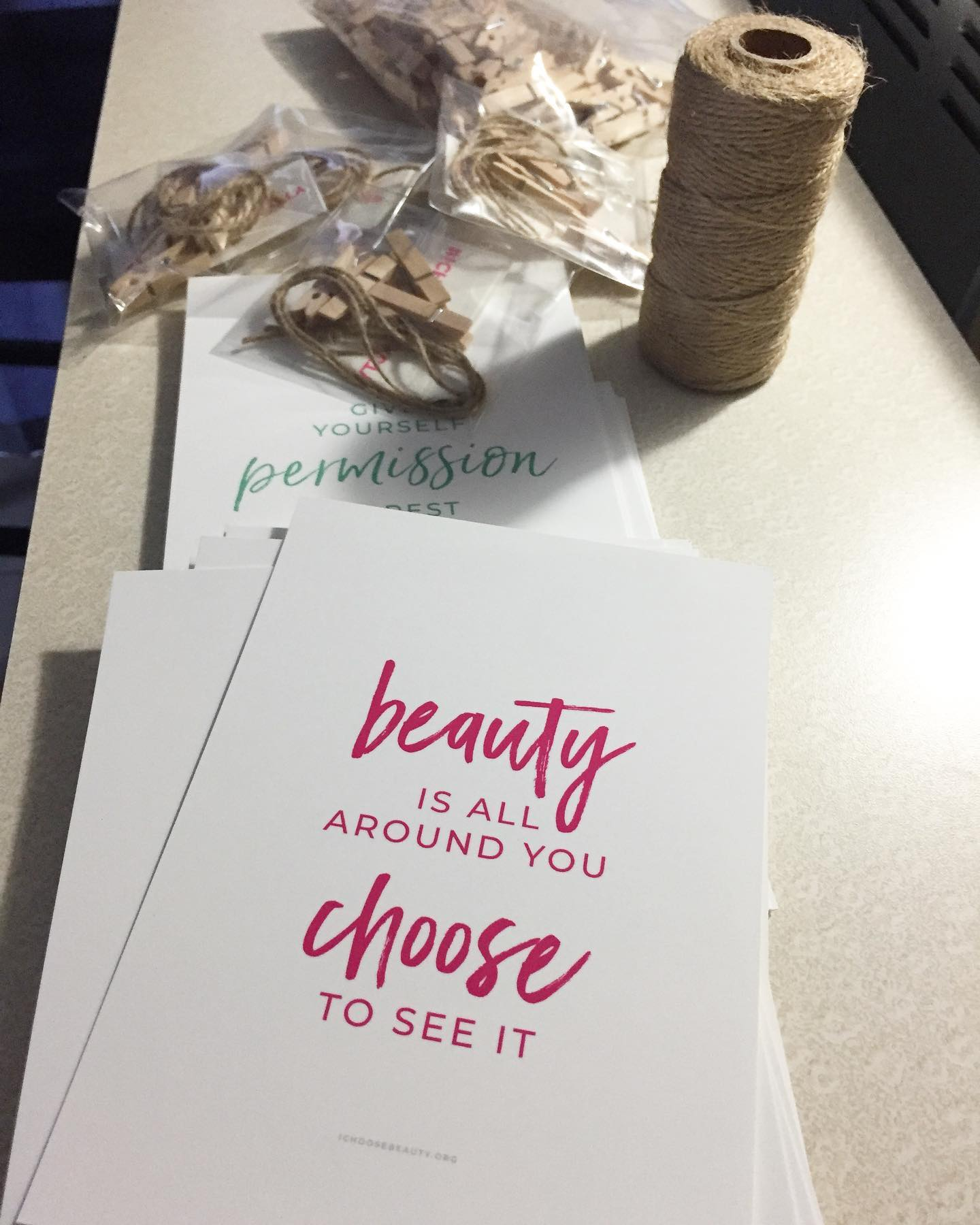 Giveaway prints ready to go to the post office (finally)! Stay tuned for the next round.  #ichoosebeauty Day 2701