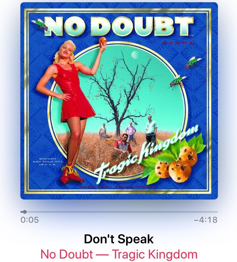 """In honor of the 25th anniversary of """"Don't Speak"""" (yesterday).  How has it been 25 years?!?!?! #ichoosebeauty Day 2705"""