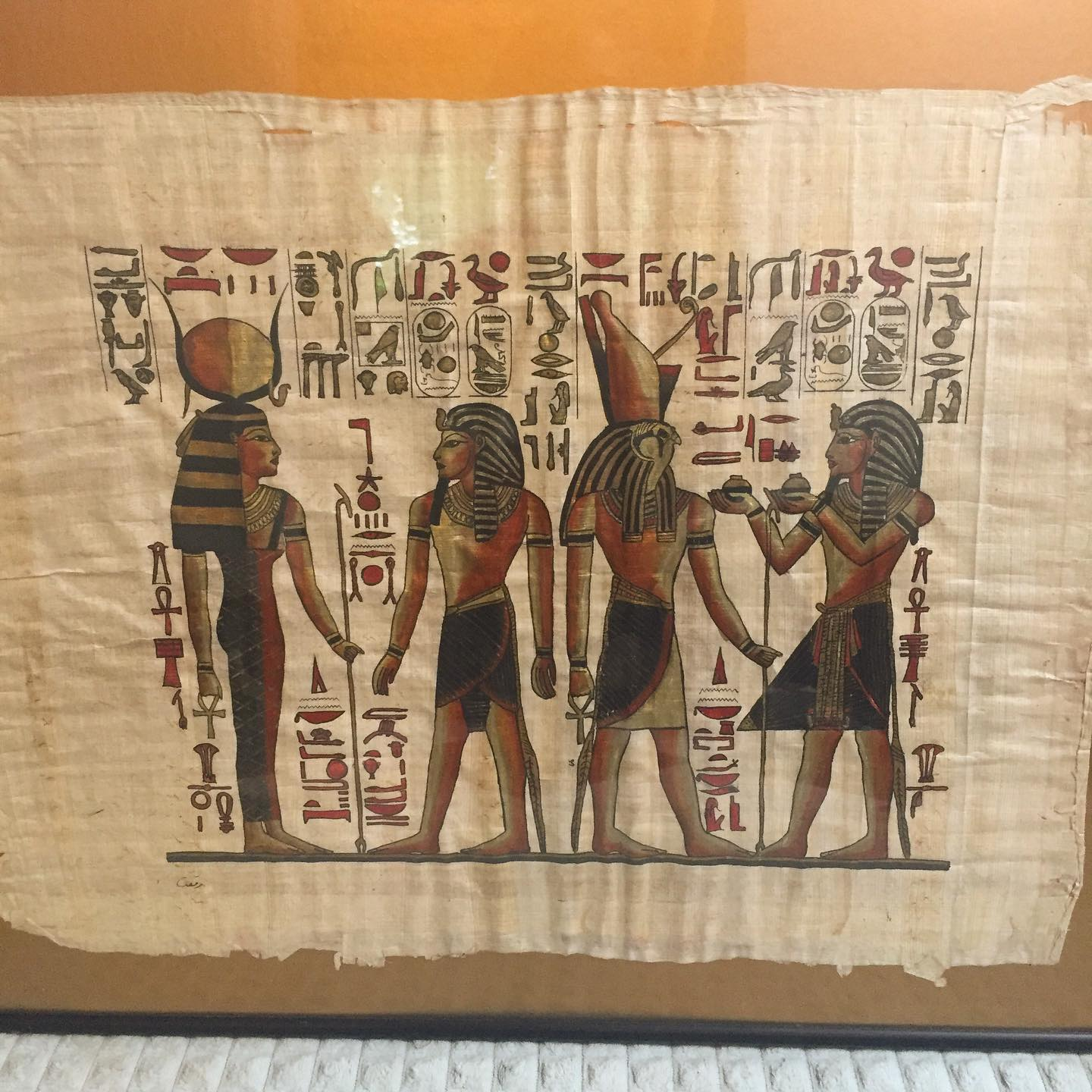 I'm surrounded by all things Egypt here at my dad's house, and it's just what my soul needed. #egyptianpapyrus #ichoosebeauty Day 2752