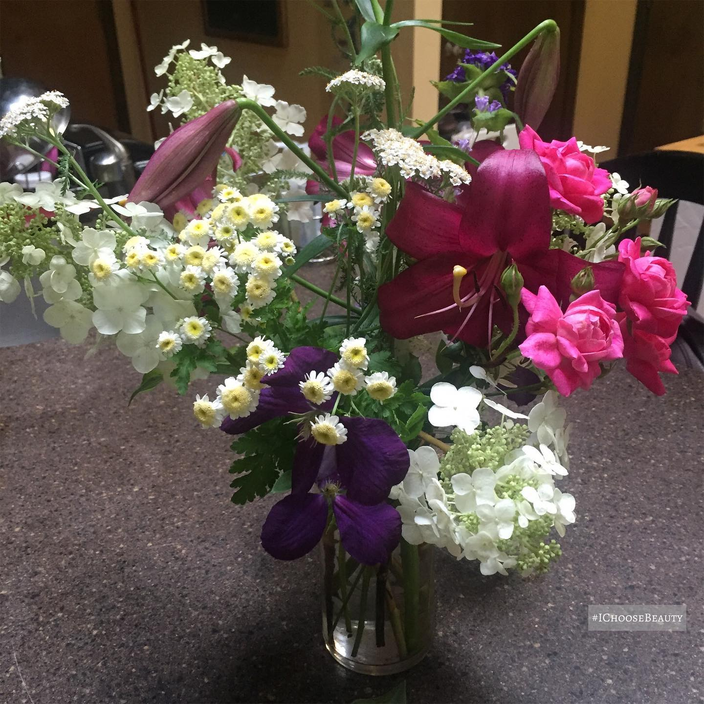 My dad's friend dropped off these beautiful flowers... all from her garden! 😯 #ichoosebeauty Day 2761