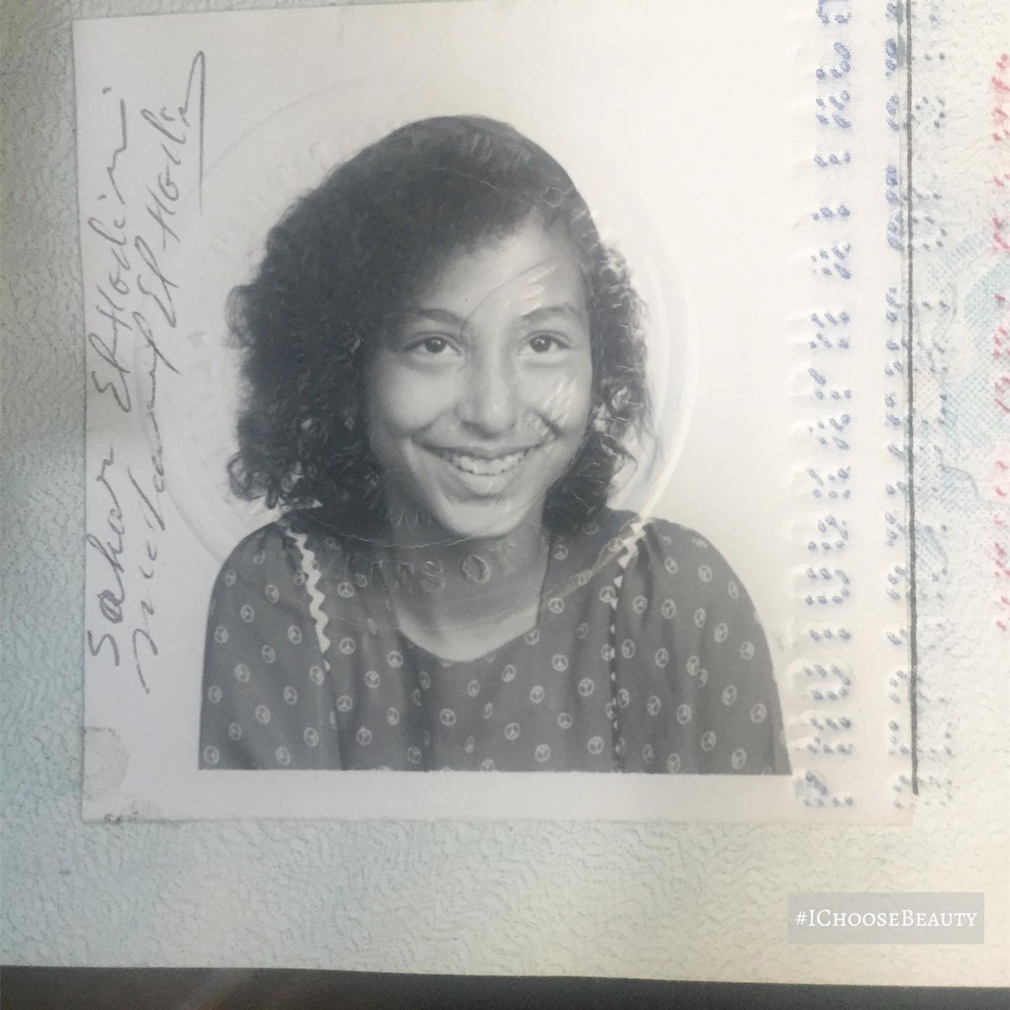 Found this gem as I was decluttering my dad's house. ️ We traveled abroad a lot when we were kids; the stamp in 1977 is from the time we went to live in Algeria for a year. #preciousmemories #ichoosebeauty Day 2764