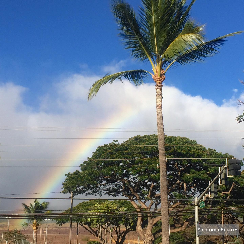 Rainbows make life magical.  #ichoosebeauty Day 2783