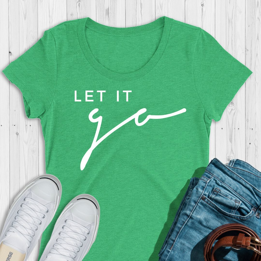 let it goLet go of how you expected things to turn out in your life. It's only then that you can see all the opportunities in front of you, even though they weren't what you originally planned.What do you need to let go?Women's tees come in green (pictured), blue, and purple tri-blend... and are perfect if you could use an inspiring message for yourself or for a friend.5% of net proceeds goes to @mentalhealthamerica. 