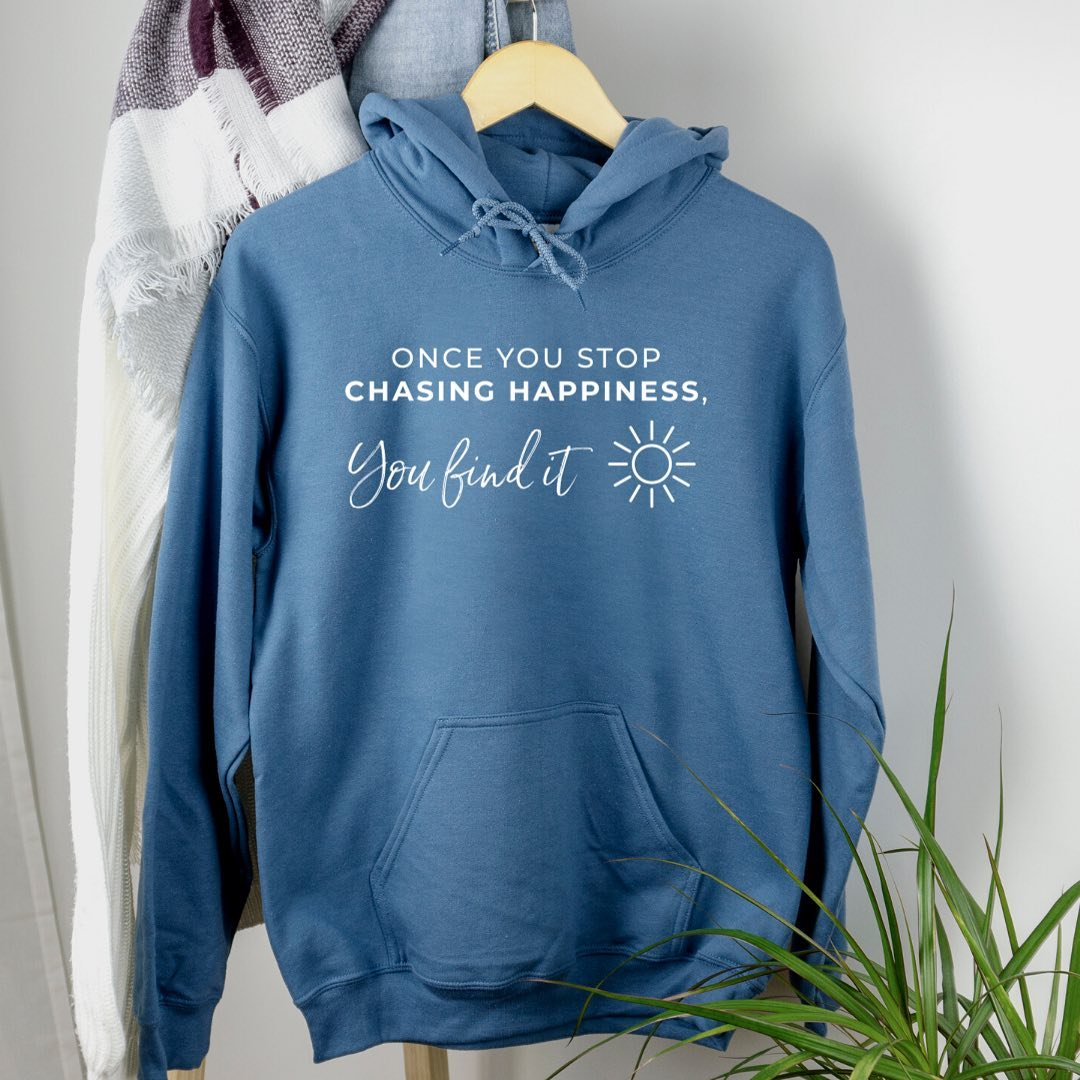 Hoodies are back, just in time for fall and winter! Also... they're perfect for comforting your soul during this unsettling year+. Our designs are created using the healing power of words, and come in two colors - Indigo Blue (pictured) and Irish Green. Click to shop! 5% of net proceeds goes to @mentalhealthamerica.